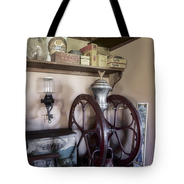 Antique Coffee Mill Tote Bag by Susan Candelario