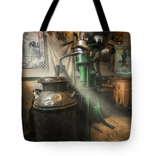 Antique Cream Separator Tote Bag by Debra and Dave Vanderlaan
