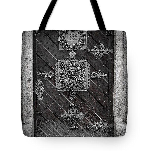 Antique doors in Budweis Tote Bag by Christine Till