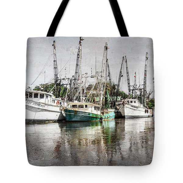 Antique Fishing Boats Tote Bag by Debra and Dave Vanderlaan