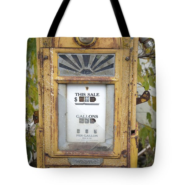 Antique Gas Pump Tote Bag by Peter French