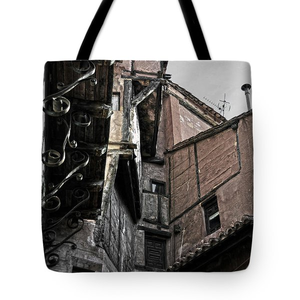 Antique Ironwork Wood And Rustic Walls Tote Bag by RicardMN Photography