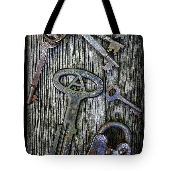 Antique Keys And Padlock Tote Bag by Paul Ward