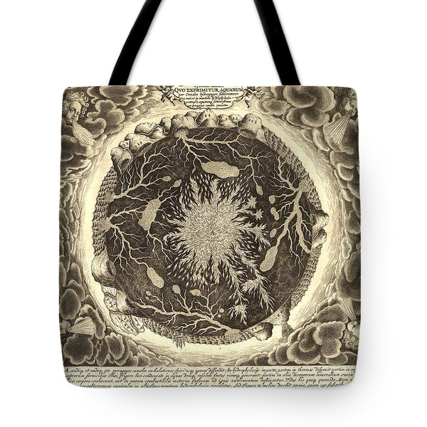 Antique Mystical Map Tote Bag by Gary Grayson