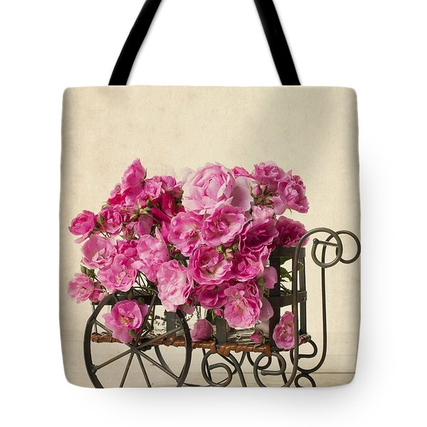 Antique Rose Cart Tote Bag by Edward Fielding