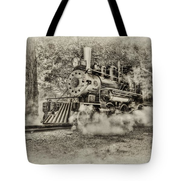 Antique Train Tote Bag by Bill  Wakeley
