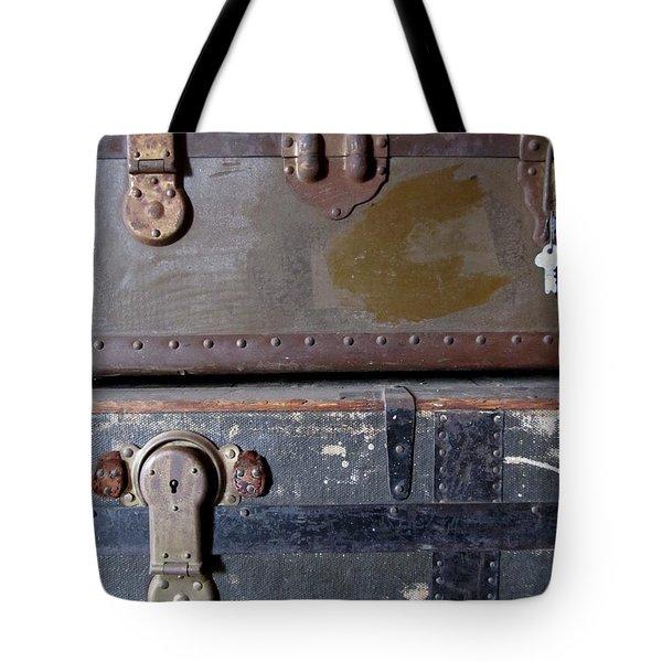 Antique Trunks 5 Tote Bag by Anita Burgermeister