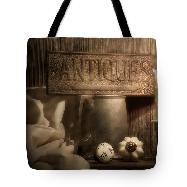 Antiques Still Life Tote Bag by Tom Mc Nemar