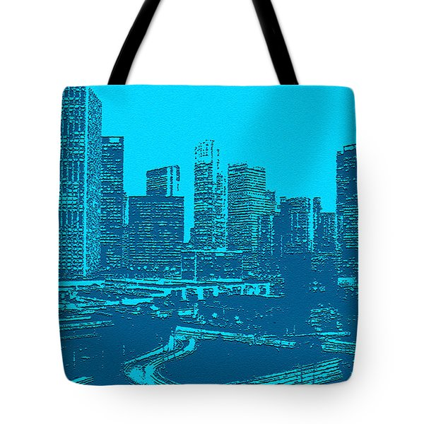 Anywhere Usa In Relief Tote Bag by  Bob and Nadine Johnston