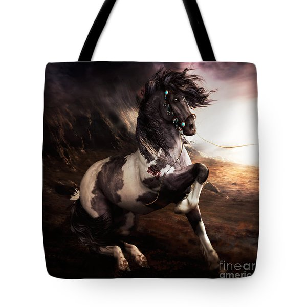 Apache Blue Tote Bag by Shanina Conway