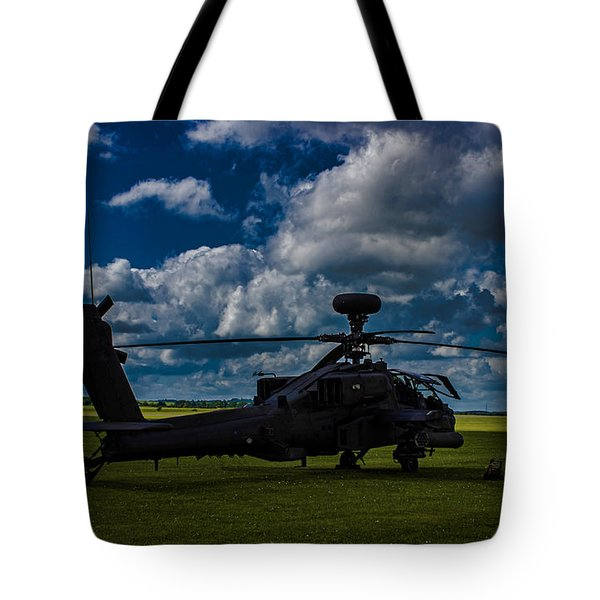 Apache Gun Ship Tote Bag by Martin Newman