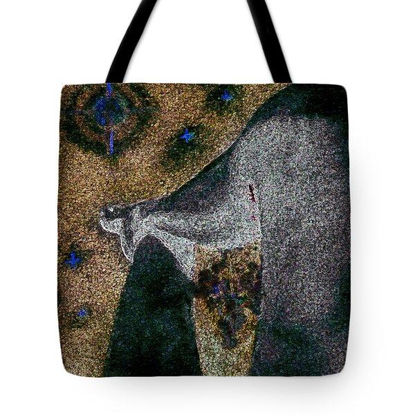 Aphrodite Holds Council With The Pleiades Tote Bag by Nova Cynthia Barker