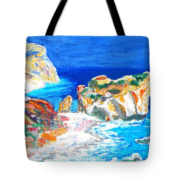 Aphrodite's Birth Place Tote Bag by Augusta Stylianou