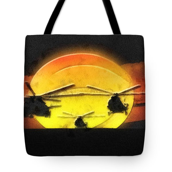Apocalypse Now Tote Bag by Mo T