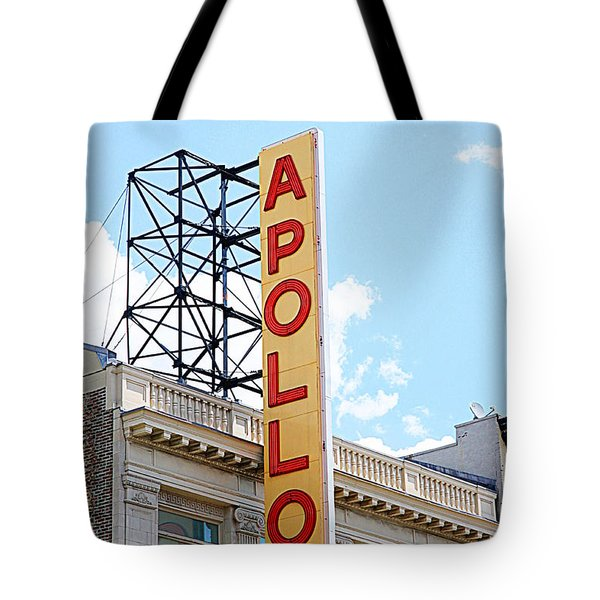 Apollo Theater Sign Tote Bag by Valentino Visentini