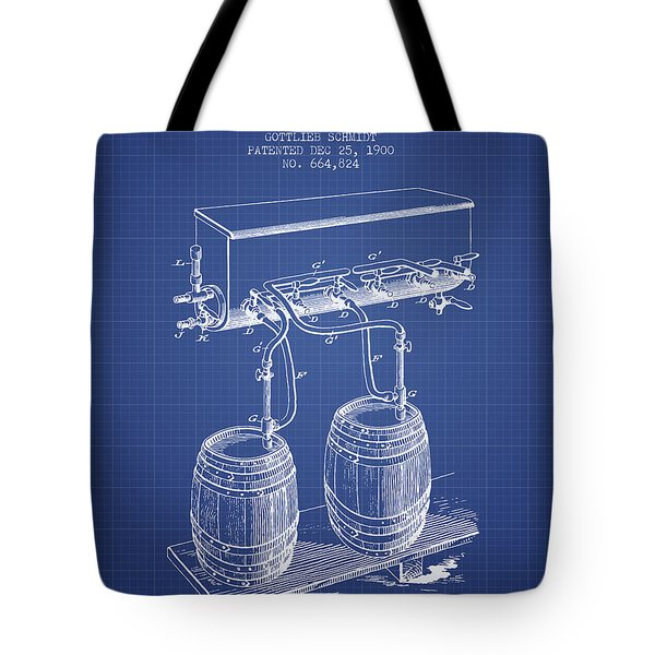 Apparatus For Beer Patent From 1900 - Blueprint Tote Bag by Aged Pixel