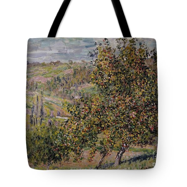 Apple Blossom Tote Bag by Claude Monet