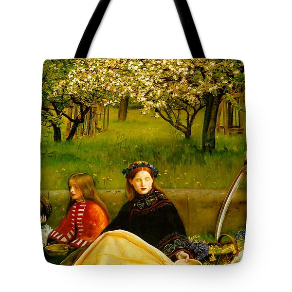Apple Blossoms Tote Bag by John Everette Millais