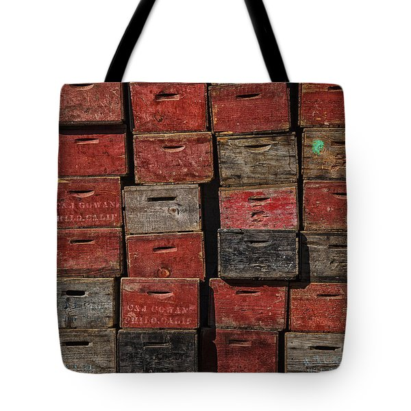 Apple Crates Tote Bag by Garry Gay
