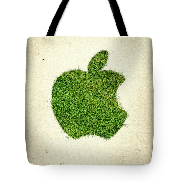 Apple Grass Logo Tote Bag by Aged Pixel