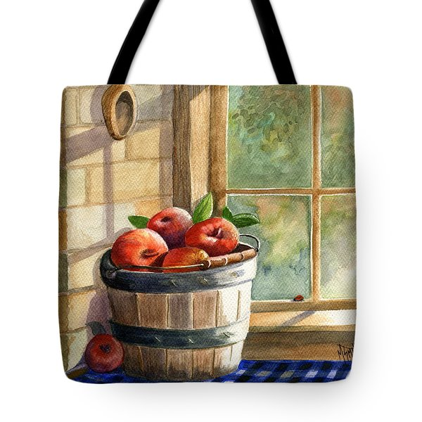 Apple Harvest Tote Bag by Marilyn Smith