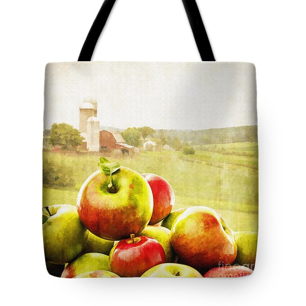 Apple Picking Time Tote Bag by Edward Fielding