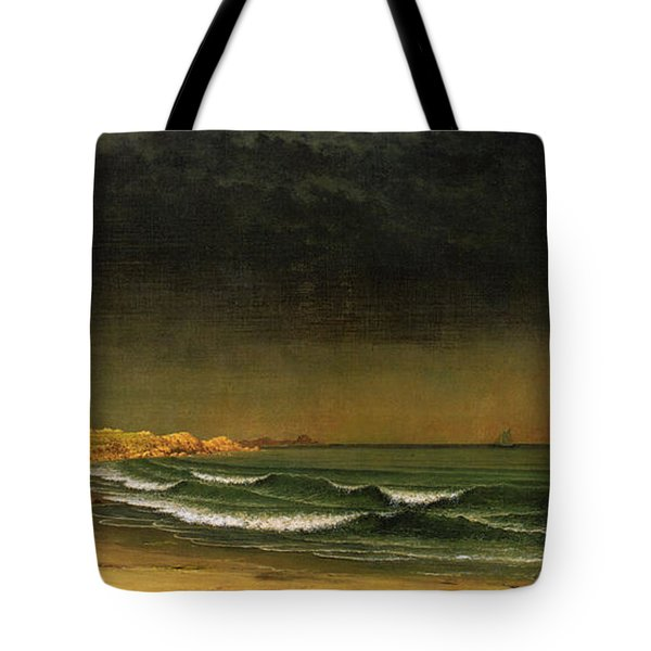Approaching Storm Near Newport Beach Tote Bag by Martin Heade