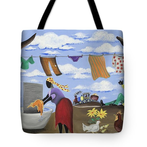 Approaching The Finish Line Tote Bag by Patricia Sabree