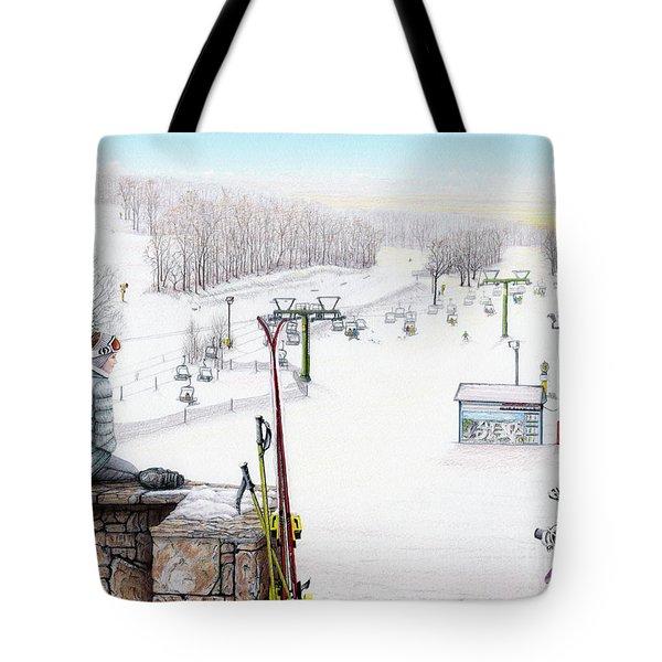 Apres-Ski at Hidden Valley Tote Bag by Albert Puskaric