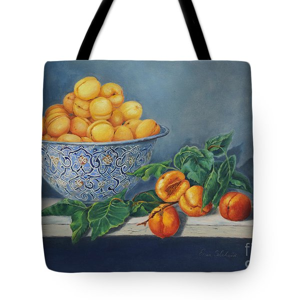 Apricots And Peaches Tote Bag by Enzie Shahmiri