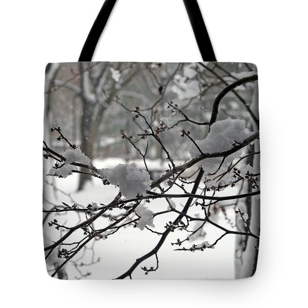 April Snow Tote Bag by Kay Novy