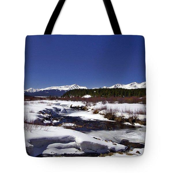 April Thaw Tote Bag by Jeremy Rhoades