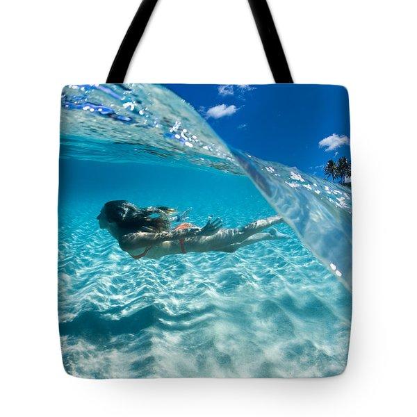 Aqua Dive Tote Bag by Sean Davey