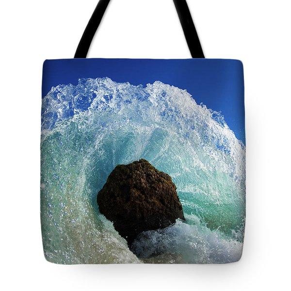 Aqua Dome Tote Bag by Sean Davey