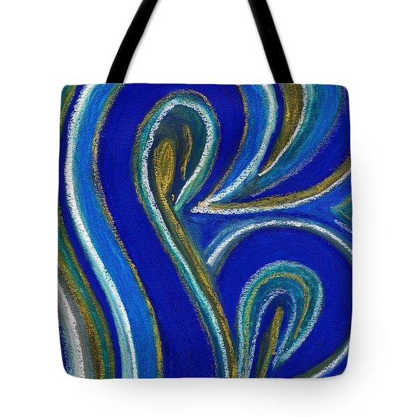 Aqua In Motion IIi Tote Bag by Carla Sa Fernandes