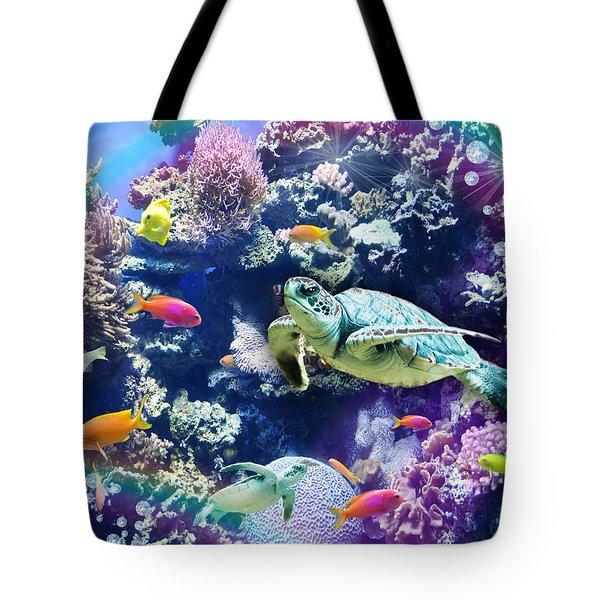 Aquarium Tote Bag by Alixandra Mullins