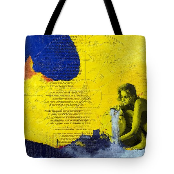 Aquarius Abstract Tote Bag by Corporate Art Task Force