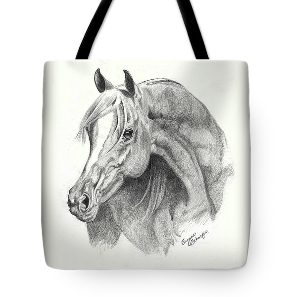Arabian Stallion Tote Bag by Suzanne Schaefer