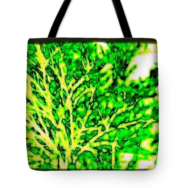 Arbres Verts Tote Bag by Will Borden