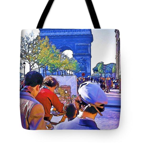 Arc de Triomphe Painter Tote Bag by Chuck Staley