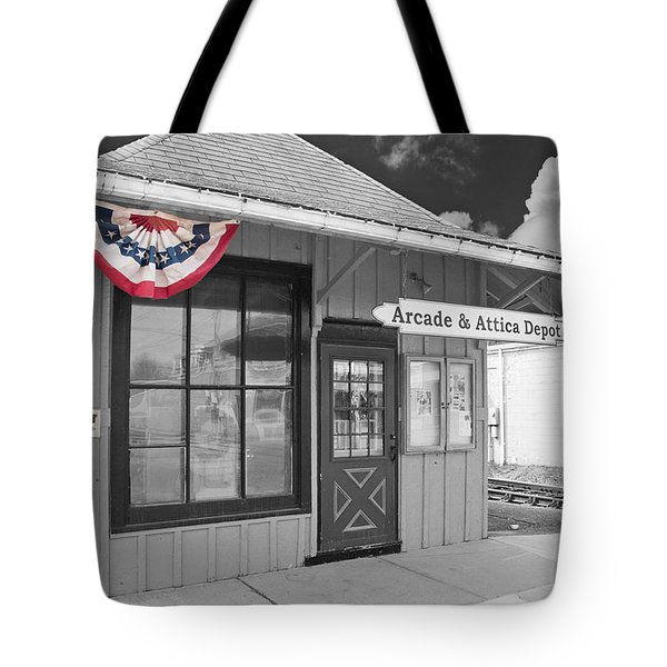 Arcade And Attica Depot Tote Bag by Guy Whiteley