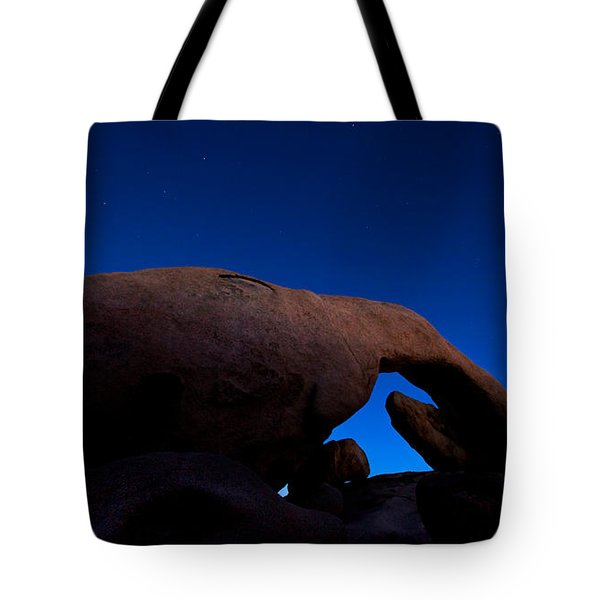 Arch Rock Starry Night Tote Bag by Stephen Stookey