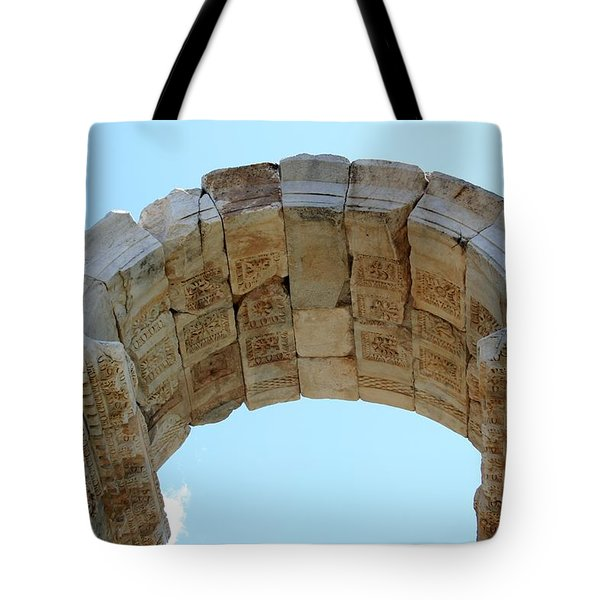 Arched Gate Of The Tetrapylon Tote Bag by Tracey Harrington-Simpson