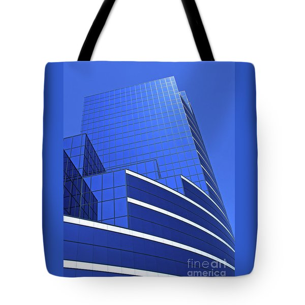 Architectural Blues Tote Bag by Ann Horn