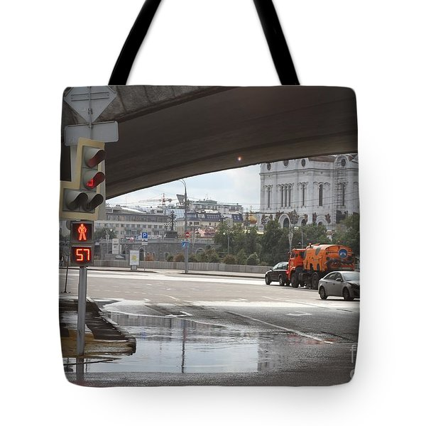 Archway Of Greater Stone Bridge In Moscow I Tote Bag by Anna Yurasovsky