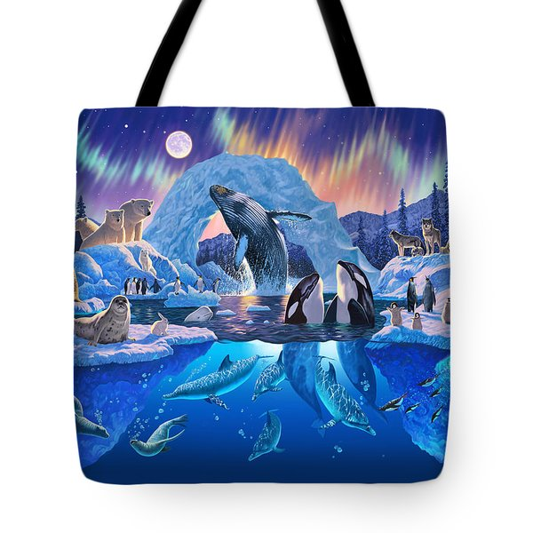 Arctic Harmony Tote Bag by Chris Heitt