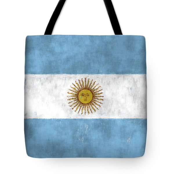 Argentina Flag Tote Bag by World Art Prints And Designs