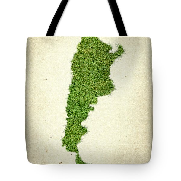Argentina Grass Map Tote Bag by Aged Pixel
