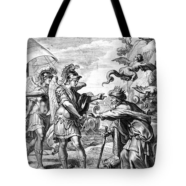Argonauts Deliver Phineas From Harpies Tote Bag by Photo Researchers