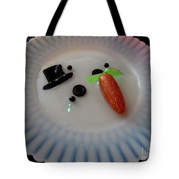 Arizona Snowman Tote Bag by Marilyn Smith